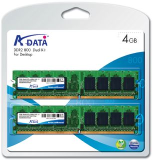 A-data 4GB=2x2GB DDR2 PC6400 800MHz ADATA (kit 2ks 2048MB)