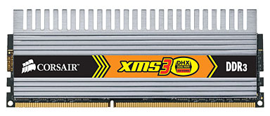CORSAIR 2GB=2x1GB DDR3 1600MHz XMS3 DHX PC3-12800 9-9-9-24 (kit 2ks 1024MB s chladičem DHX Dominator)
