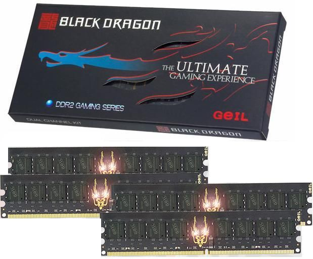 GEIL RAM 4GB(4x1GB) PC2 6400 800Mhz Black Dragon (5-5-5-15)